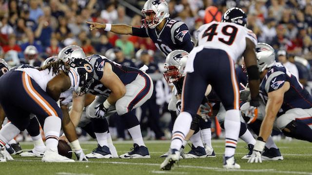 Jimmy Garoppolo, Patriots offensive line