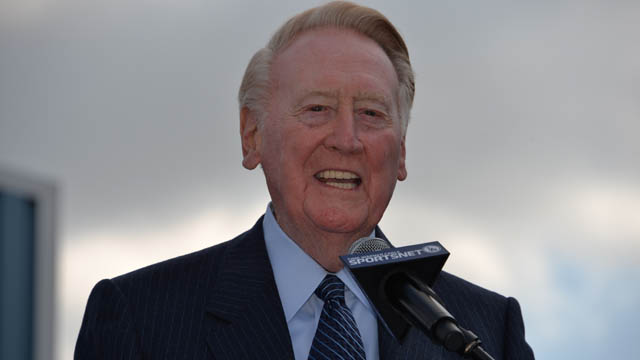 Dodgers broadcaster Vin Scully