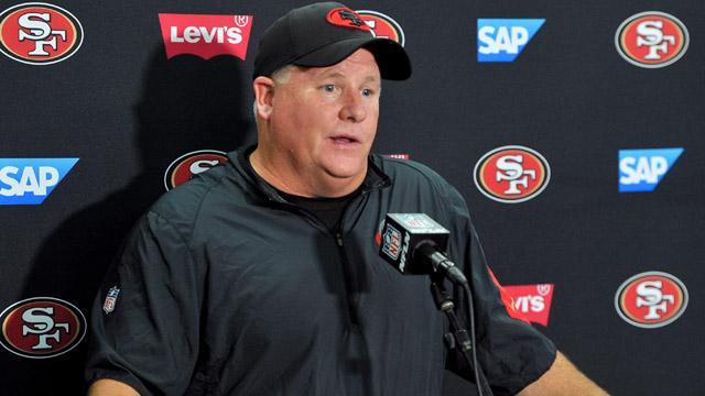 San Francisco 49ers head coach Chip Kelly