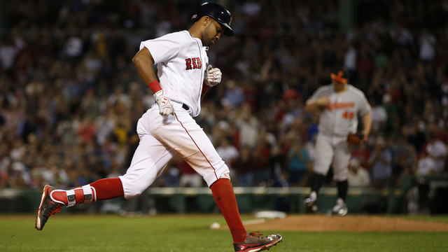 Red Sox outfielder Chris Young