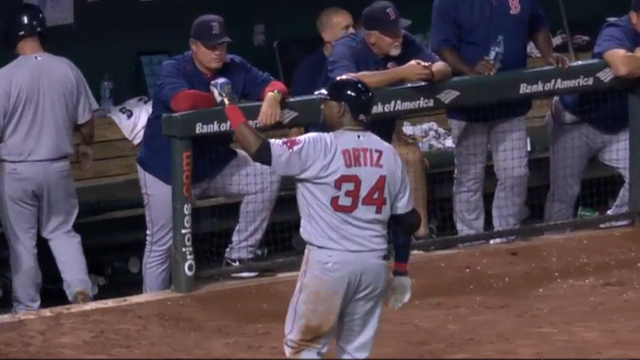 Red Sox designated hitter David Ortiz