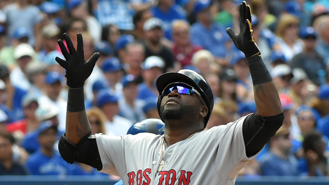 Red Sox designated hitter David Ortiz