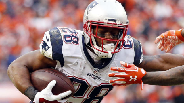 New England Patriots running back James W