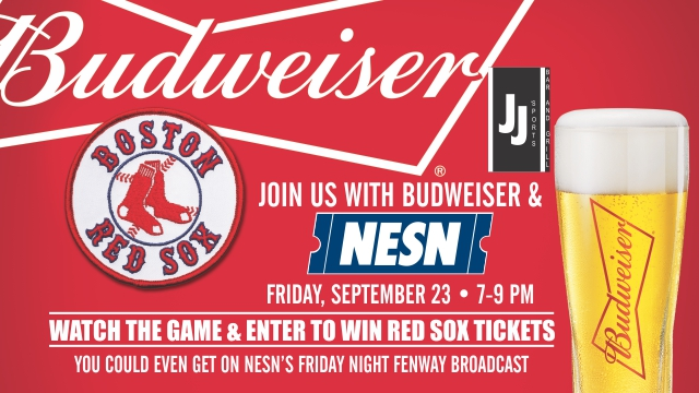 JJ Sports Bar and Grille Budweiser Red Sox viewing party promo