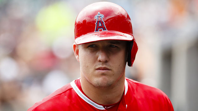 Los Angeles outfielder Mike Trout