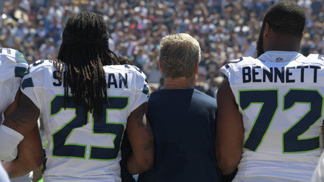Seattle Seahawks player Richard Sherman
