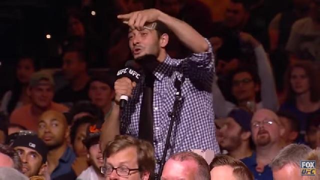 ufc fan calls out eddie alvarez at UFC 205