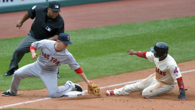 Red Sox third baseman Aaron Hill