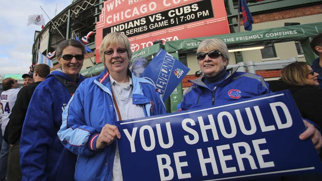 Cubs fans at Wrigley Field
