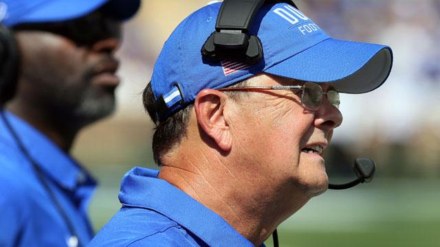 Duke Blue Devils head coach David Cutcliffe