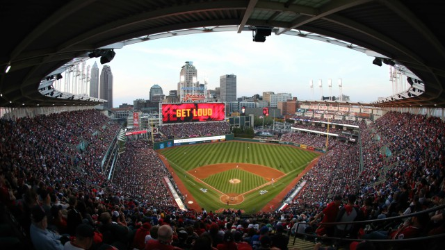 Indians fans bring goats to Progressive Field