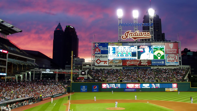 Indians prepare for a game vs. the Royals