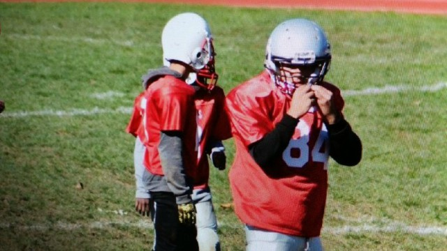 19-year-old plays in Providence youth football league game
