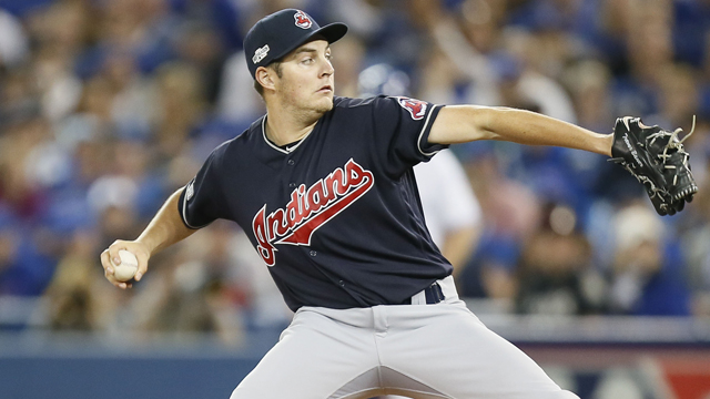 Cleveland Indians starting pitcher Trevor Bauer