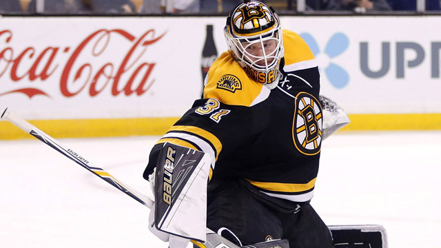 Boston Bruins goalie Zane McIntyre