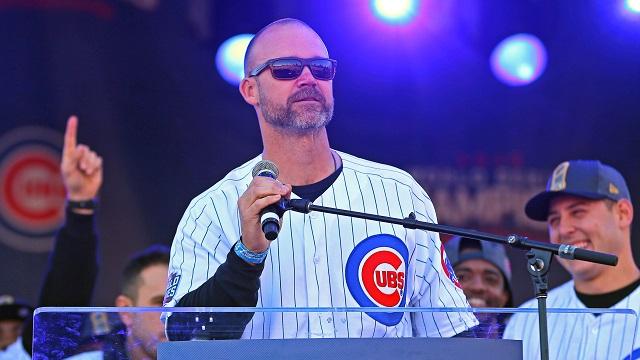 Chicago Cubs catcher David Ross