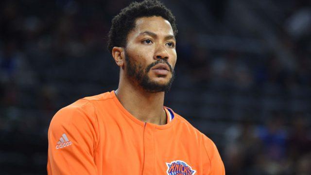 New York Knicks guard Derrick Rose