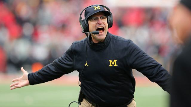 Michigan Wolverines head coach Jim Harbaugh