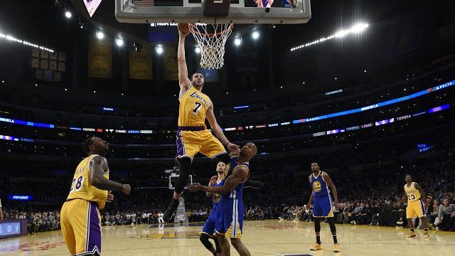 Los Angeles Lakers forward Larry Nance Jr.
