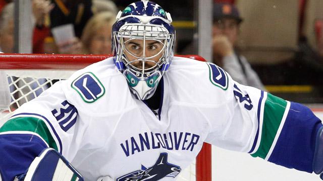 Vancouver Canucks goalie Ryan Miller