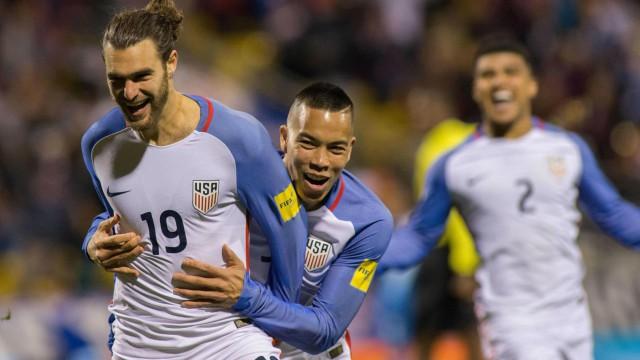 USA Soccer's Graham Zusi and Bobby Wood