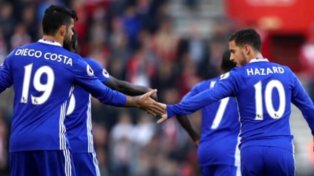 Chelsea's Diego Costa and Eden Hazard