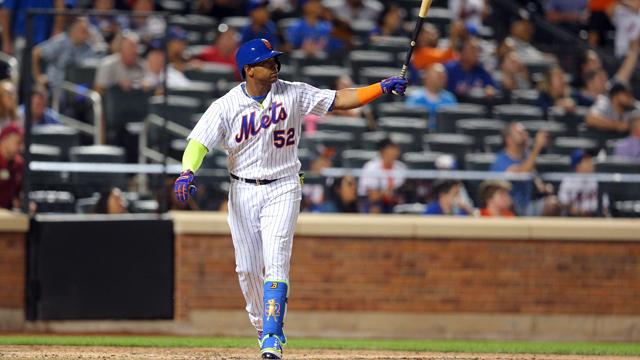 New York Mets left fielder Yoenis Cespedes