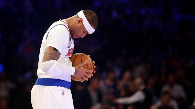 New York Knicks small forward Carmelo Anthony