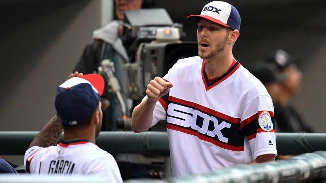 White Sox pitcher Chris Sale