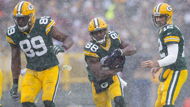 Jared Cook, Ty Montgomery, Aaron Rodgers