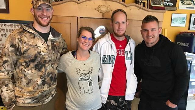 Mike Trout and Carson Wentz hunted together