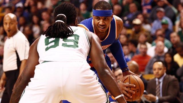 Knicks forward Carmelo Anthony