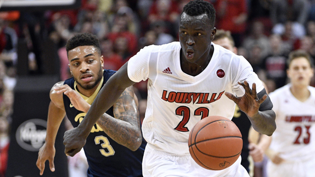 Louisville Cardinals forward Deng Adel