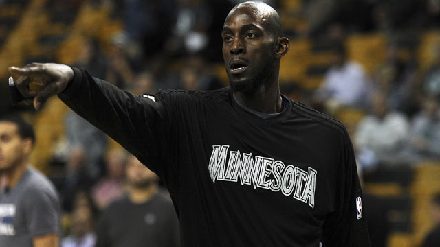 Timberwolves forward Kevin Garnett