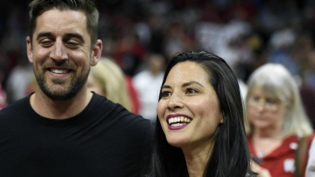 Green Bay Packers quarterback Aaron Rodgers and film actress Olivia Munn