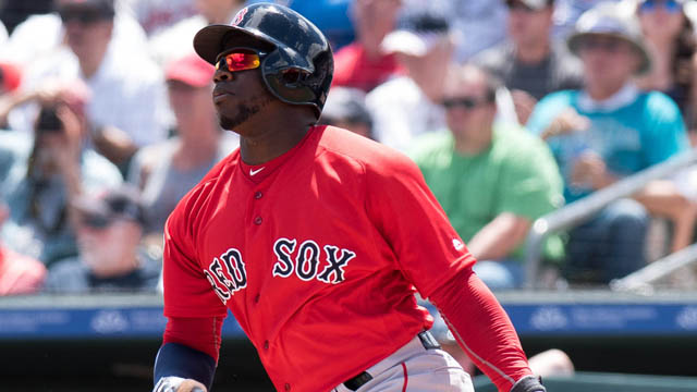 Boston Red Sox right fielder Rusney Castillo