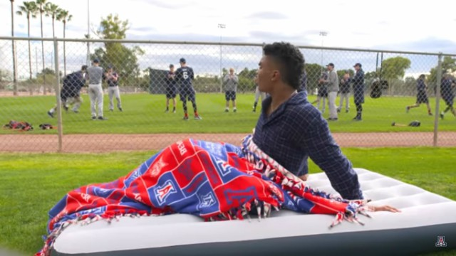 "Arizona Baseball remakes ""Major League"" spring-training scenes"
