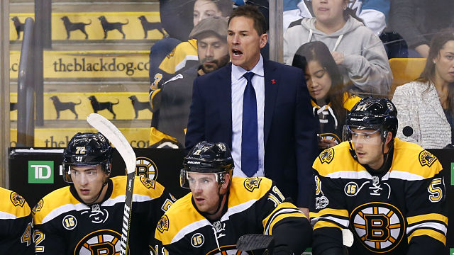 Boston Bruins head coach Bruce Cassidy