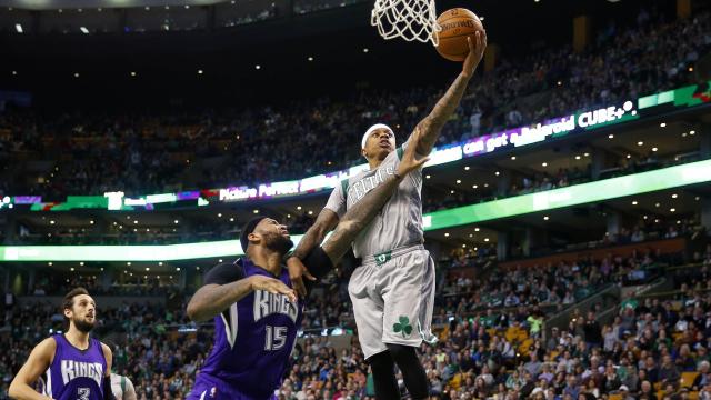 Boston Celtics point guard Isaiah Thomas
