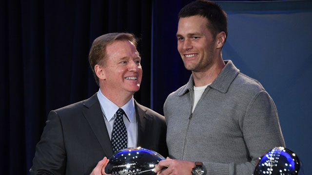 Tom Brady and Roger Goodell