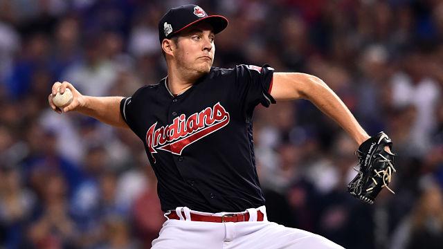 Cleveland Indians pitcher Trevor Bauer