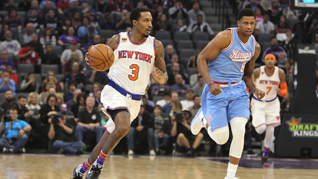 New York Knicks point guard Brandon Jennings