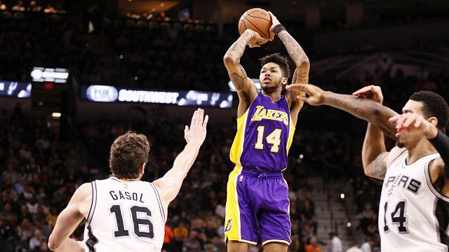 Los Angeles Lakers forward Brandon Ingram