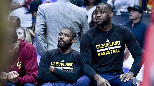 Cleveland Cavaliers guard Kyrie Irving and forward LeBron James