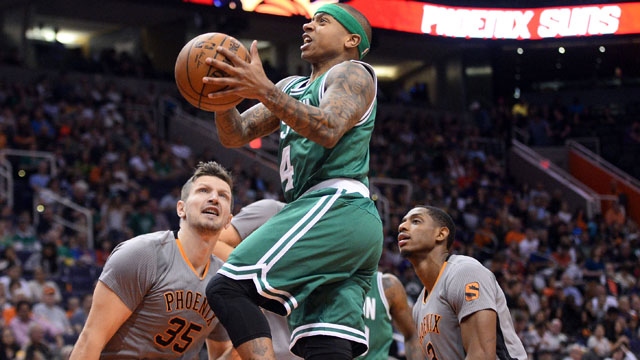 Celtics guard Isaiah Thomas