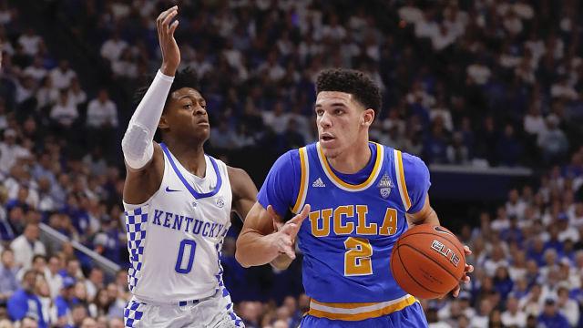 UCLA guard Lonzo Ball and Kentucky guard De'Aaron Fox