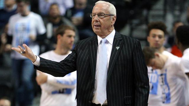 North Carolina Tar Heels head coach Roy Williams