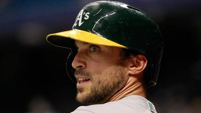 A's outfielder Sam Fuld