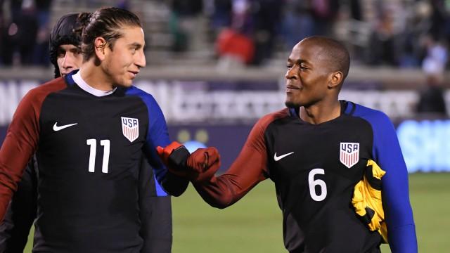 USA Soccer's Alejandro Bedoya and Darlington Nagbe