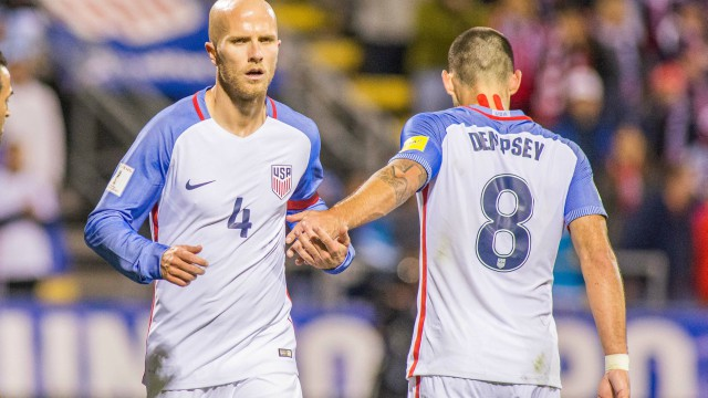 USA Soccer's Michael Bradley and Clint Dempsey